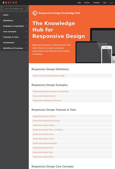 図1 レスポンシブWebデザインの情報をまとめたポータル的なページ