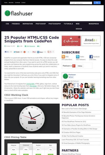 図5 CodePenで共有された便利なコードを紹介