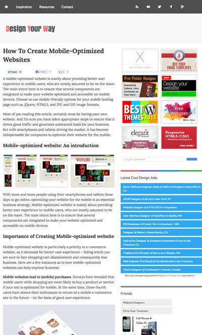図1 モバイルに最適化したWebサイトを作る方法