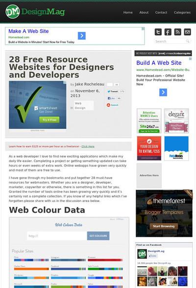 図2 Web制作のための素材やツール配布サイト28選