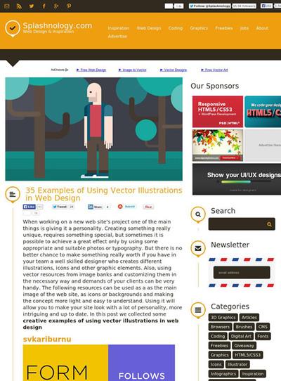 図4 ベクターイラストを使ったWebデザインのギャラリー