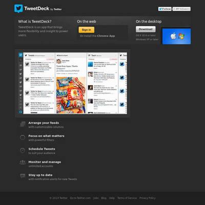 図6 ツイートをまとめるCustom timelines機能が追加されたTweetDeck
