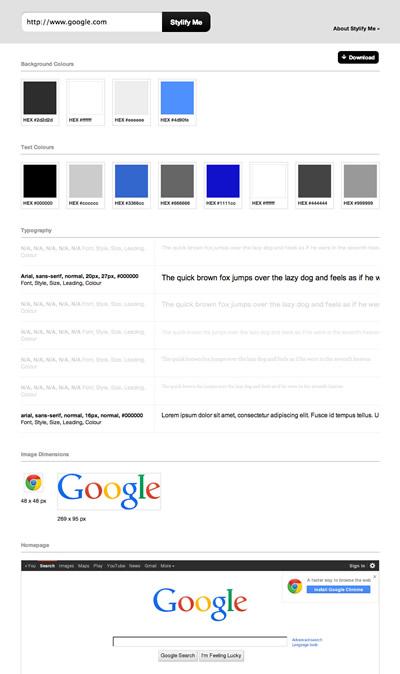 図6 Stylify MeでGoogleを解析した例