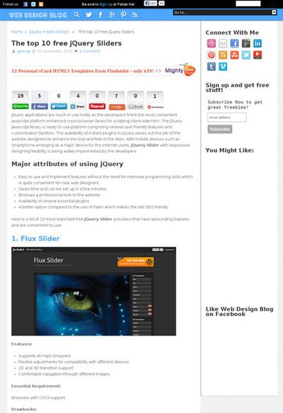 図2 jQueryを利用したフリーのスライダー10種類