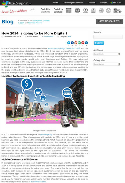 図1 2014年のデジタルマーケティングの動向