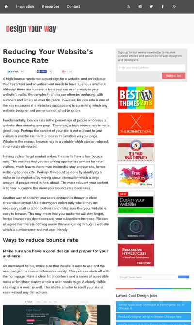 図1 Webサイトの直帰率を減らす方法