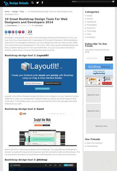 図5 Bootstrapのためのデザインツールいろいろ