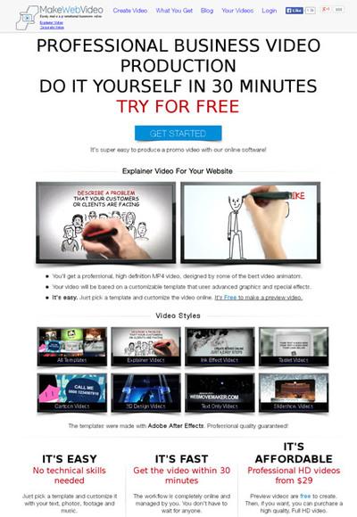 図6 プロモーション動画を簡単に作れるサービス