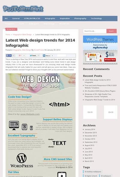 図2 Webデザインのトレンドをまとめたインフォグラフィックス