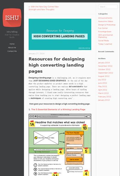 図2 効果的なランディングページのデザインに役立つインフォグラフィックスいろいろ
