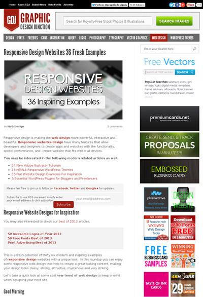 図4 レスポンシブWebデザインのサイトのギャラリー