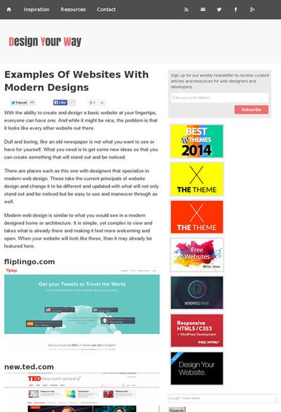 図4 今流行のスタイルのWebサイトのギャラリー