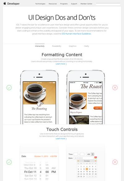 図2 iOSのUIデザインの良い例/悪い例