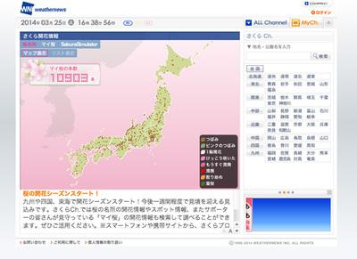 図6 桜の開花情報サービス