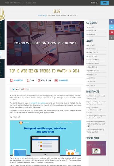 図4 2014年のWebデザインのトレンド