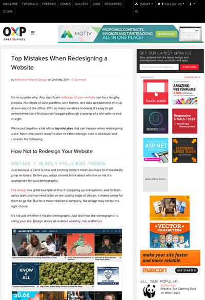 図1 Webサイトのデザインをリニューアルするときに陥りがちな間違い