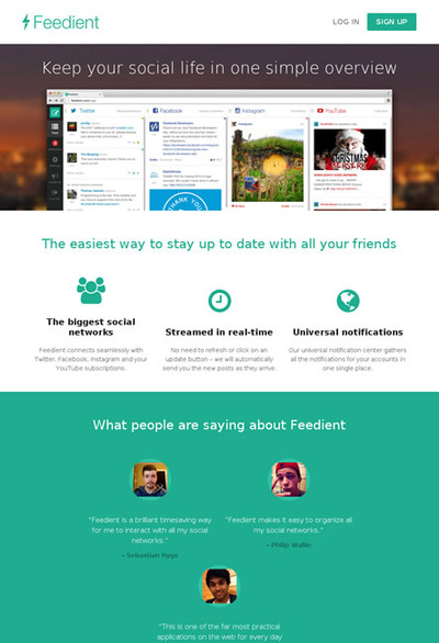 図6 複数のソーシャルメディアの投稿をまとめて見ることができるサービス