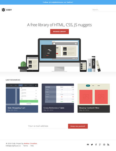 図3 HTML/CSS/JSのライブラリをまとめたサイト
