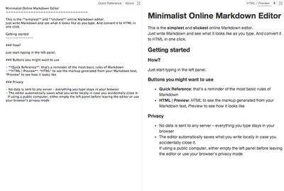 図6 オンラインで使えるマークダウンエディタ