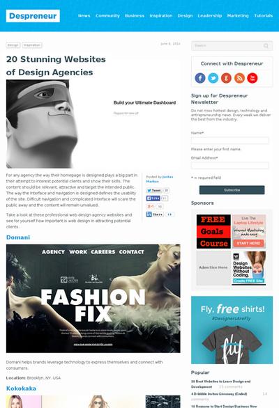 図5 デザインエージェンシーのWebサイトのギャラリー