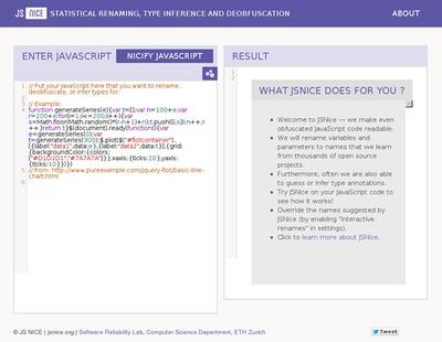 図6 JavaScriptのコードを読みやすく変換するサービス