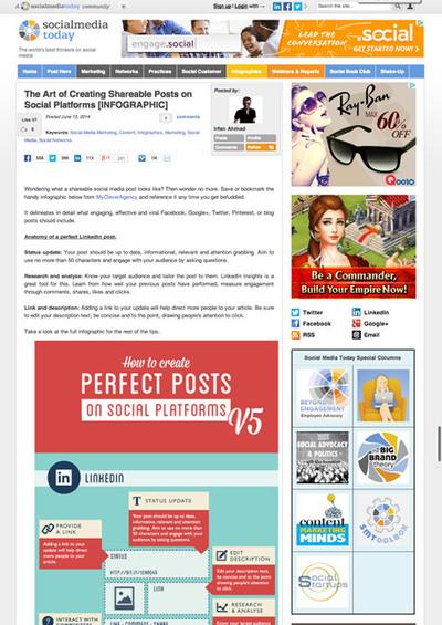 図5 ソーシャルメディア毎のシェアされやすい投稿のアドバイス