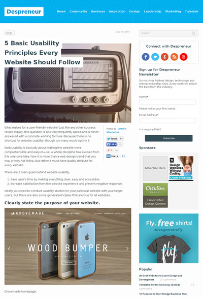 図1 ユーザビリティに関する5つの原則