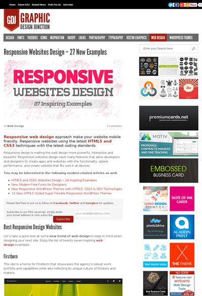 図4 レスポンシブWebデザインのギャラリー
