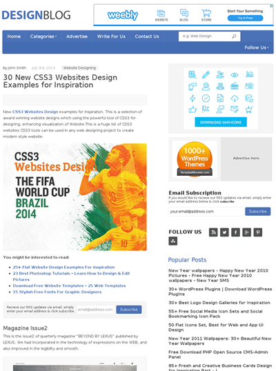 図3 CSS3を使ったWebデザインのギャラリー