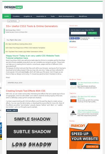 図6 CSS3のオンラインジェネレーターを大量に紹介