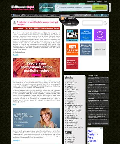 図3 Webデザインに役立つツールや素材