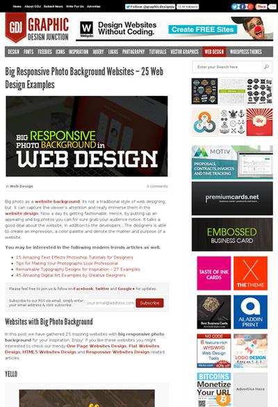 図4 レスポンスブな背景画像を使ったWebサイトのギャラリー