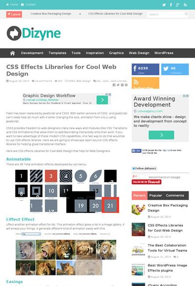 図3 CSSによるエフェクトを加えるライブラリ