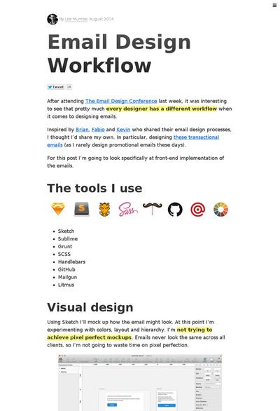 図5 HTMLメールを作成するワークフロー