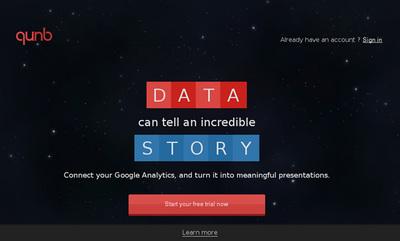図6 Google Analyticsの解析内容をプレゼンスライドにするサービス