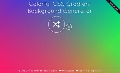 図6 CSSによるカラフルなグラデーションのジェネレーター