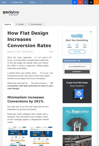 図1 フラットデザインがコンバージョンレートをアップさせた事例