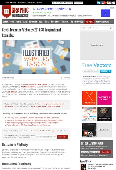 図5 イラストを使ったWebデザインのギャラリー