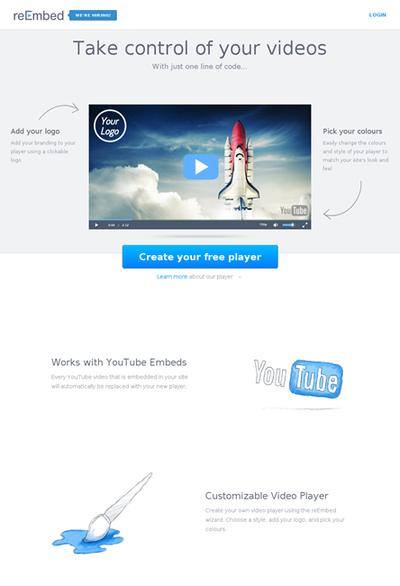 図6 YouTubeの動画プレイヤーをカスタマイズできるサービス