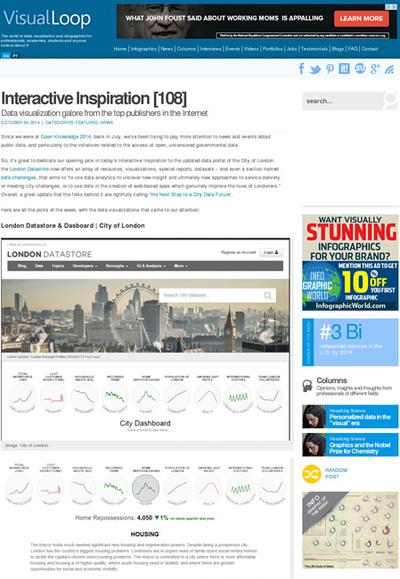 図5 データを視覚化したWebデザインのショーケース