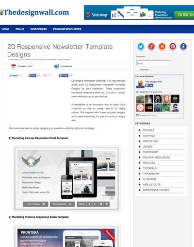 図4 レスポンシブなHTMLメールのテンプレート20選