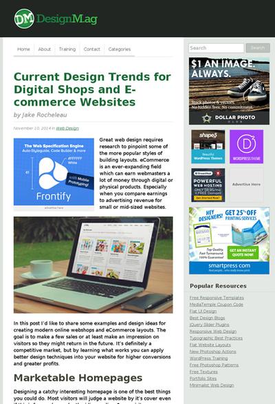 図2 ECサイトの最近のデザイントレンド