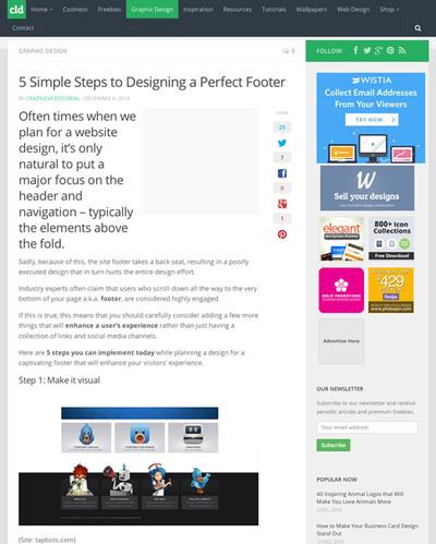 図1 完璧なフッタを作るための5つのステップ