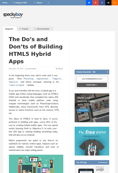 図1 HTML5で作るハイブリッドなアプリ開発のヒント