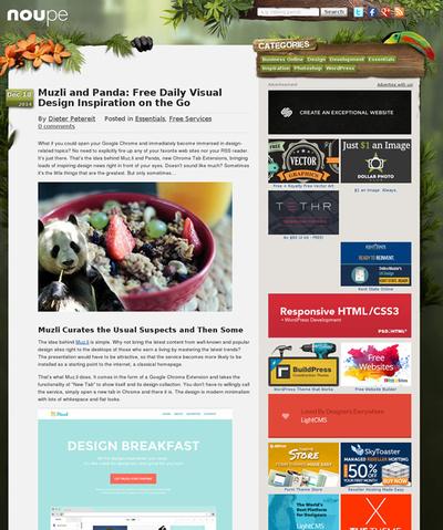 図5 デザイン作品やニュースを閲覧できるサービス2つ