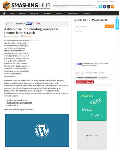 図4 WordPressのテーマをゼロから作るためのヒント