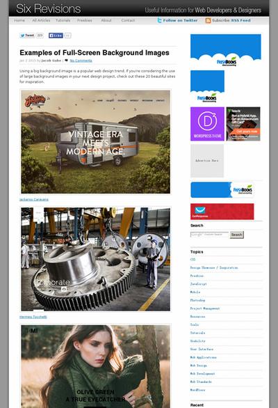 図5 背景全面に画像が使われたWebデザインのギャラリー