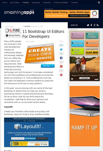 図6 Bootstrapでのサイト制作に役立つエディタいろいろ