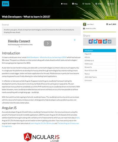 図4 Web開発者が2015年に学ぶべき技術