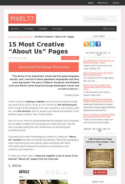 図5 独創的な「About Us」ページ15選